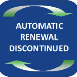 Automatic Renewal Discontinued