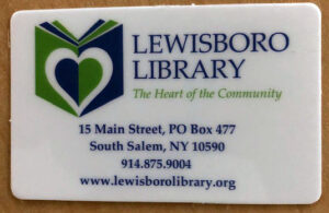 Lewisboro Library card