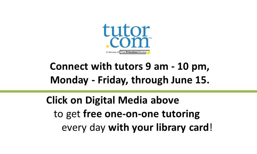 Tutor.com tutors available 9 am to 10 pm, Monday to Friday