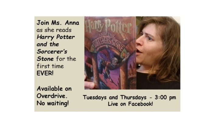 Ms Anna reads Harry Potter on Facebook
