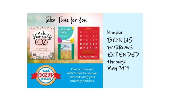 Hoopla Bonus Borrows Extended to May 31st