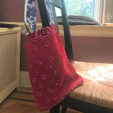 beach bag made from bandanas