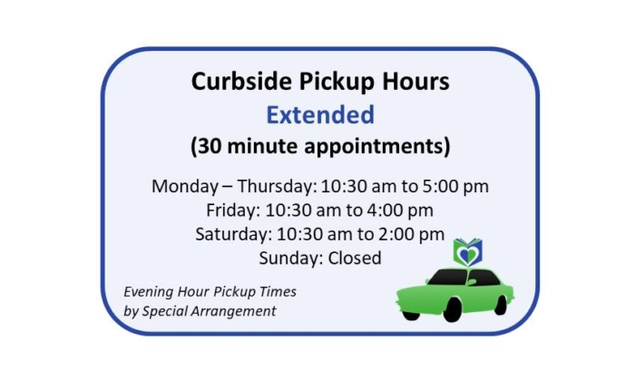 Curbside Pickup Hours Extended