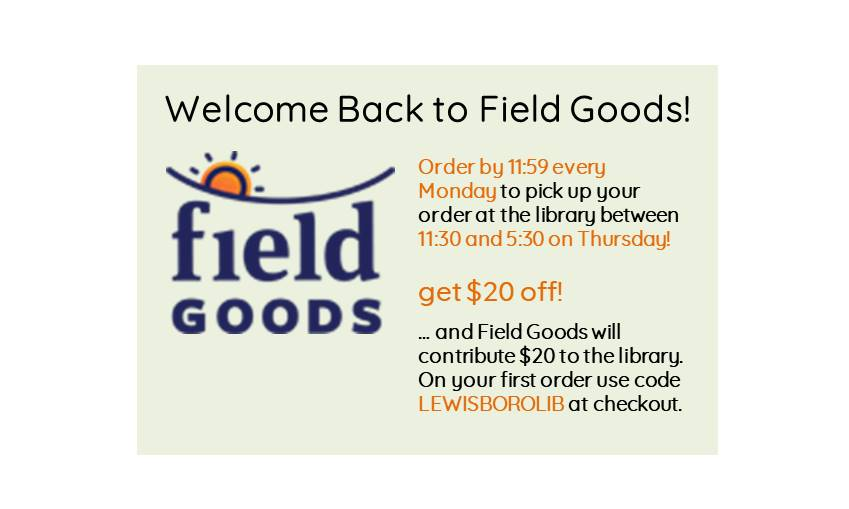 Welcome Back Field Goods