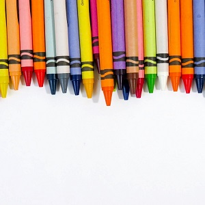 crayon assortment lined up