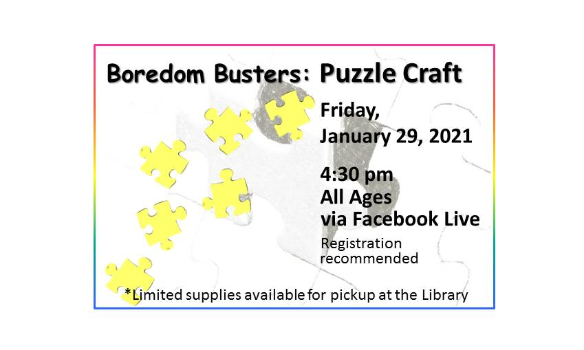 210129 Boredom Busters Puzzle Craft event