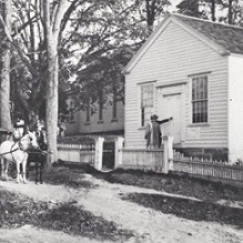 old photo of Lewisboro Library circa 1903