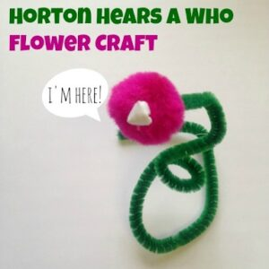 flower made from pipe cleaners