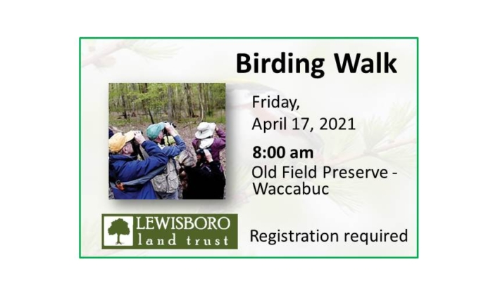 210417 Birding Walk with Lewisboro Land Trust event