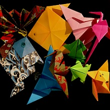 origami birds, fish and animals