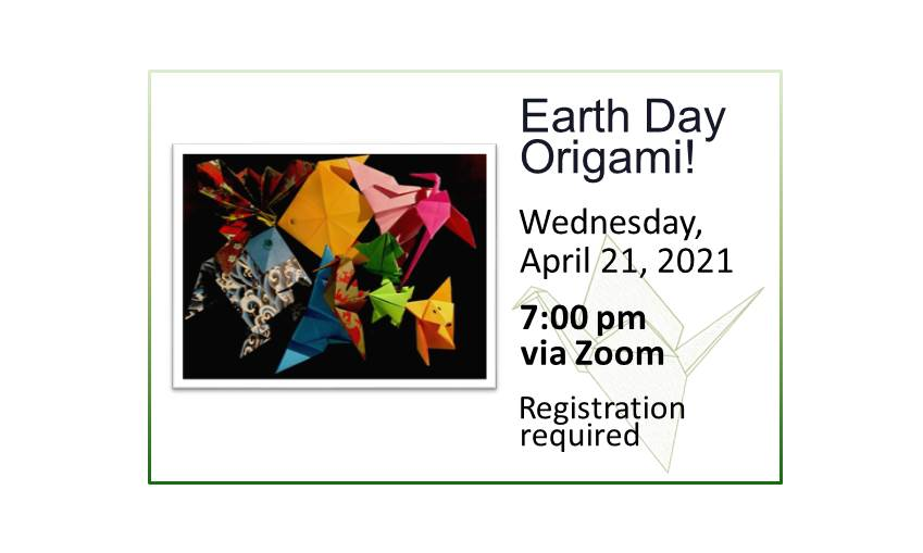 210421 Earth Day Origami event