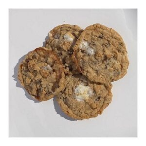 four round s'mores cookies