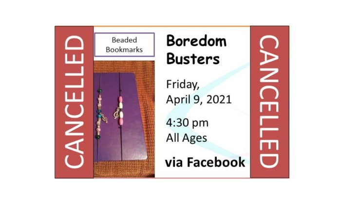 210409 Boredom Busters Cancelled