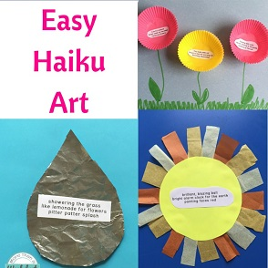haiju poems written on leaves and cupcake liners