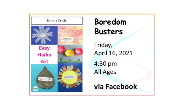 210416 Boredom Busters Haiku Art event