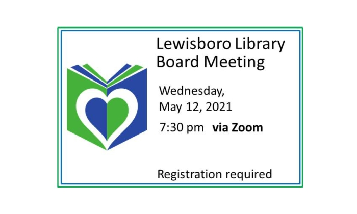 210512 Lewisboro Board Meeting on Zoom