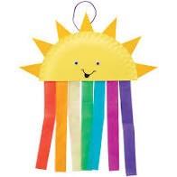 sun and rainbow windsock
