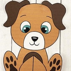 paper cutout of a dog