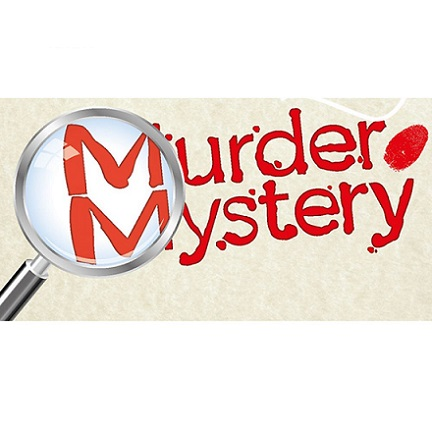 Magnifying glass over the words Murder Mystery