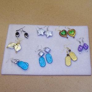 display of colorful earrings