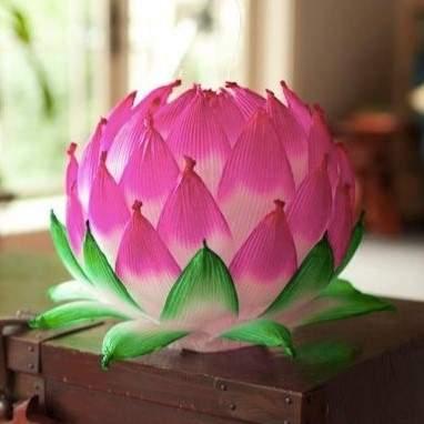 pink silk lotus flower