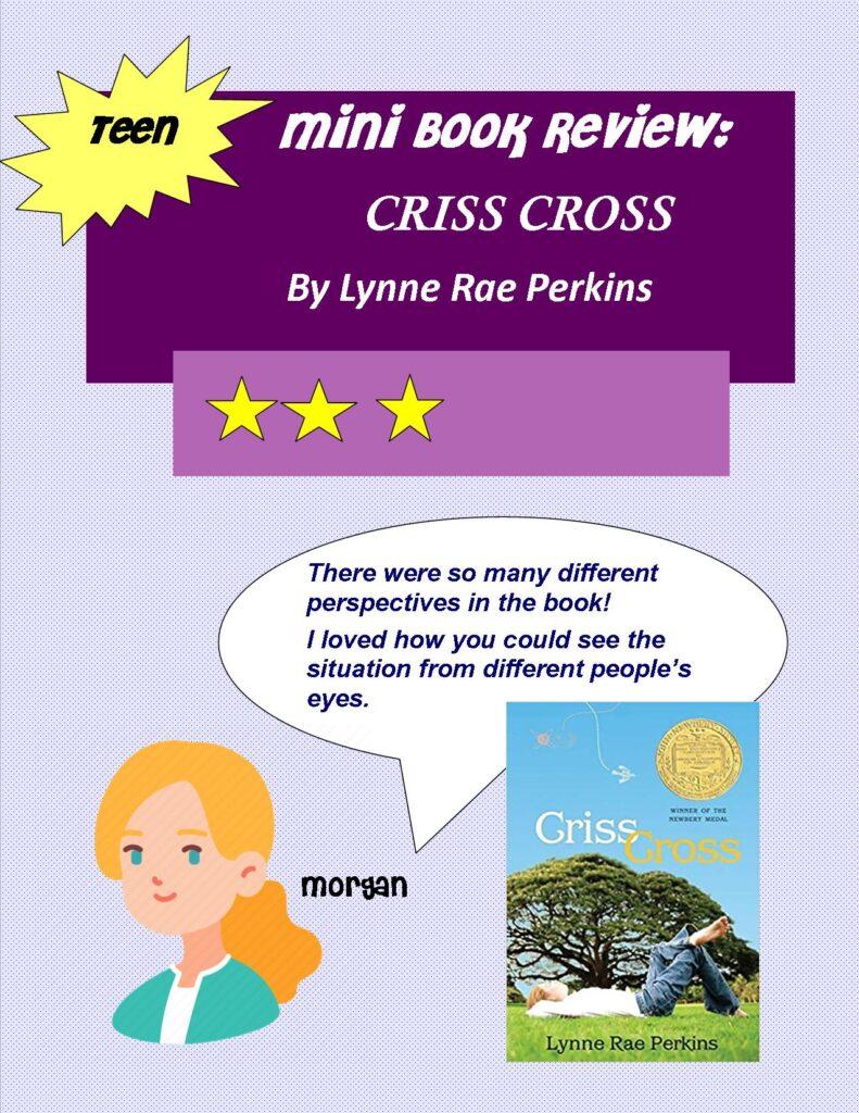 Mini Book Review Criss Cross