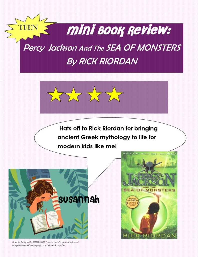 Mini Book Review of Percy Jackson and the Sea of Monsters