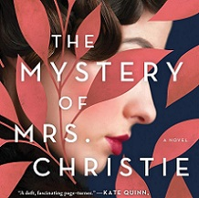 Book Cover for The mystery of Mrs. Christie featuring woman's face behind leaves