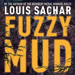 book jacket of Fuzzy Mud, with tree branches