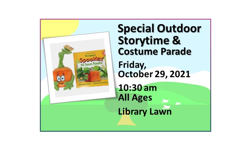 211029 Special Outdoor Pumpkin Storytime and Costume Parade